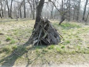 Einer von mehreren Holzhaufen