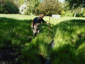 Arbeit am Pritschenteichgraben