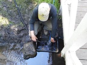 Wasserentnahmestelle im Einsatz